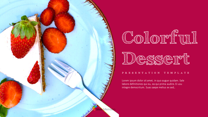 <span class=\'highlight\'>Colorful</span> Dessert PowerPoint Templates Design_01