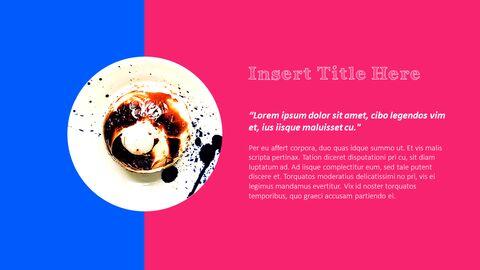 화려한 디저트 PowerPoint 템플릿 디자인_05