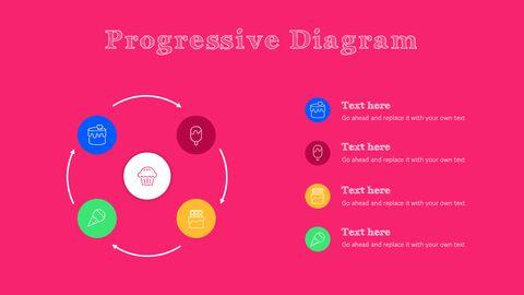 화려한 디저트 PowerPoint 템플릿 디자인_27