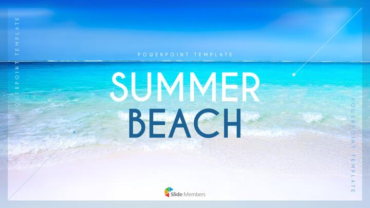 여름 해변 프레젠테이션 PowerPoint 템플릿 디자인_01