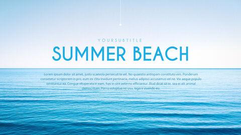 여름 해변 프레젠테이션 PowerPoint 템플릿 디자인_02