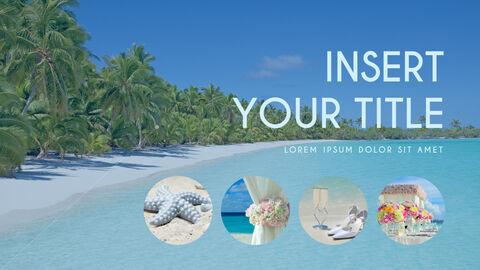 여름 해변 프레젠테이션 PowerPoint 템플릿 디자인_05