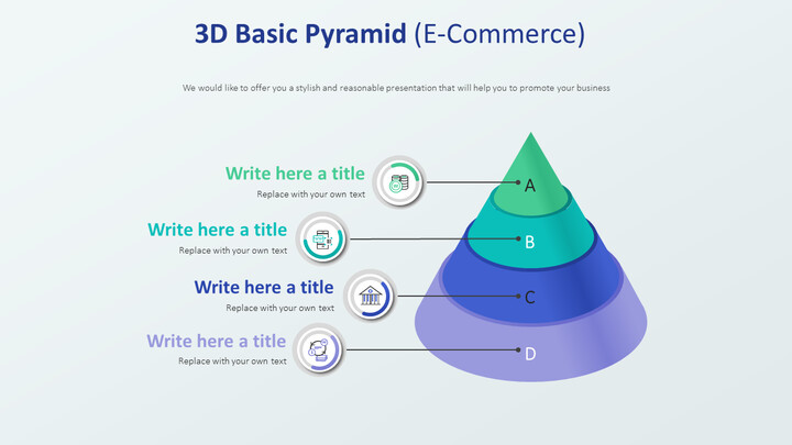 3D 기본 피라미드 다이어그램 (전자 상거래)_02