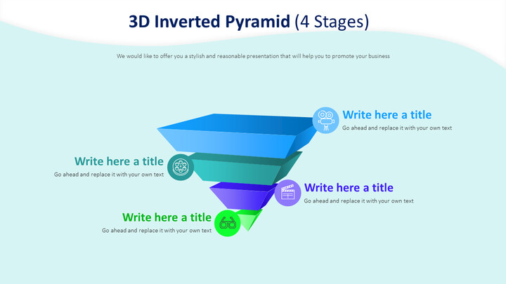 3D Inverted Pyramid Diagram (4 Stages)_01