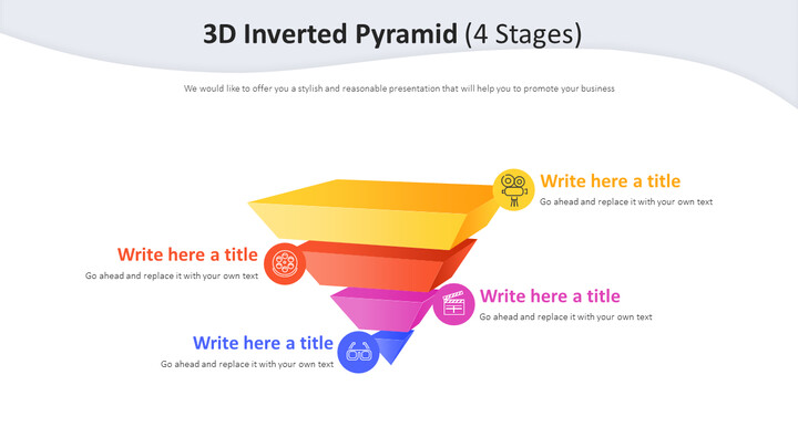3D Inverted Pyramid Diagram (4 Stages)_02