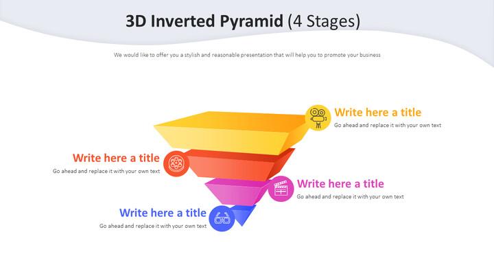 3D 반전 피라미드 다이어그램(4단계)_02