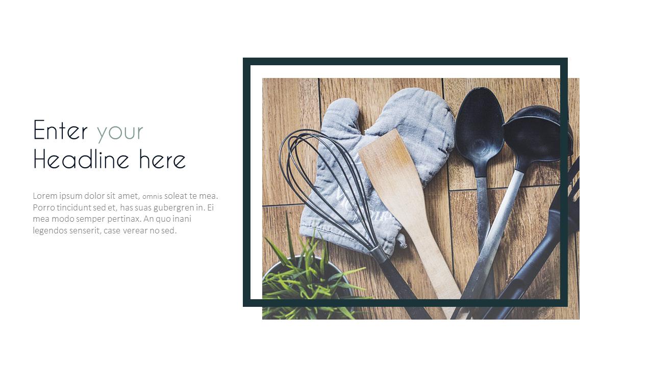 Kitchenware PowerPoint Templates Design