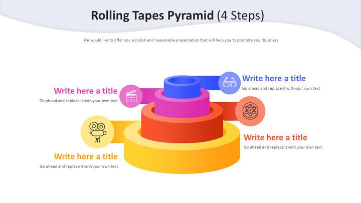 롤링 테이프 피라미드 다이어그램 (4 단계)_02