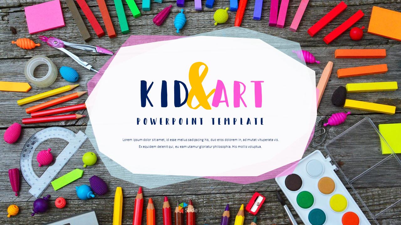 Kid  U0026 Art Powerpoint Templates For Presentation