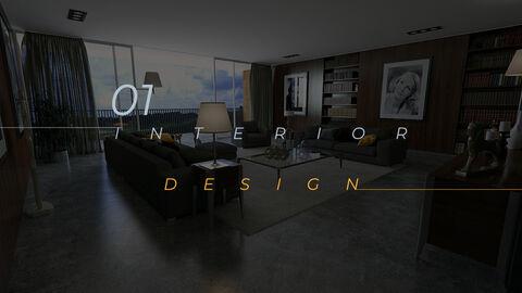 인테리어 디자인 테마 PPT 템플릿_03
