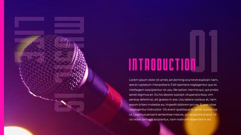 음악 축제 PowerPoint 템플릿 디자인_03