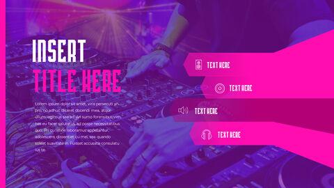 음악 축제 PowerPoint 템플릿 디자인_36