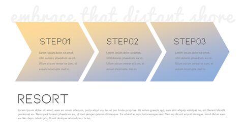 로맨틱 리조트 PowerPoint 템플릿 디자인_24