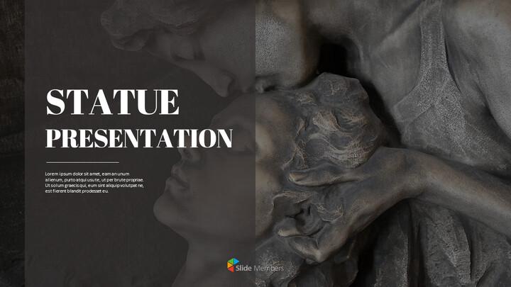동상 프레젠테이션 PowerPoint 템플릿 디자인_01