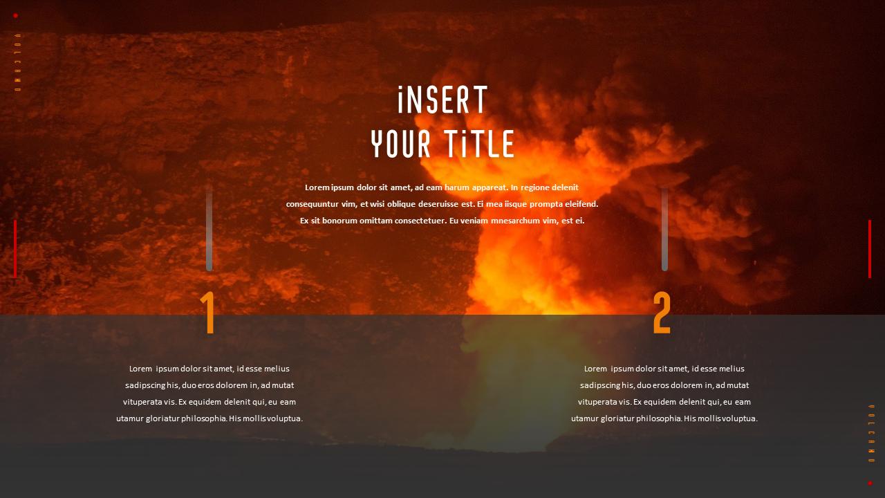 Volcano Theme Ppt Templates