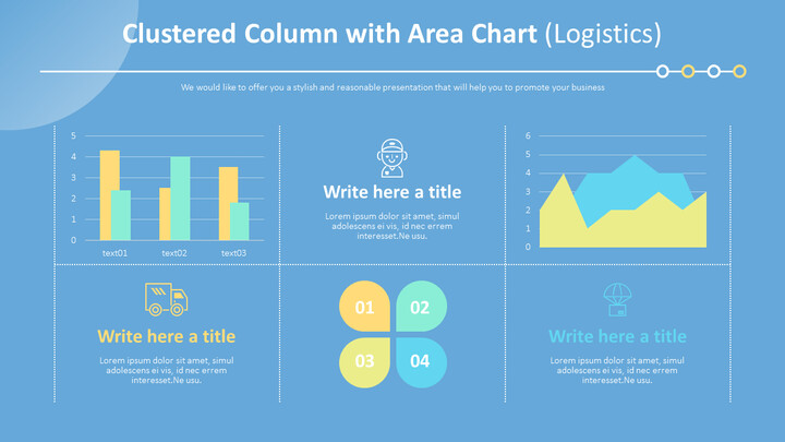 Clustered Column with Area Chart (Logistics)_01
