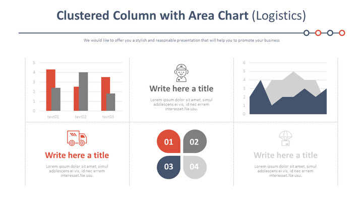 Clustered Column with Area Chart (Logistics)_02