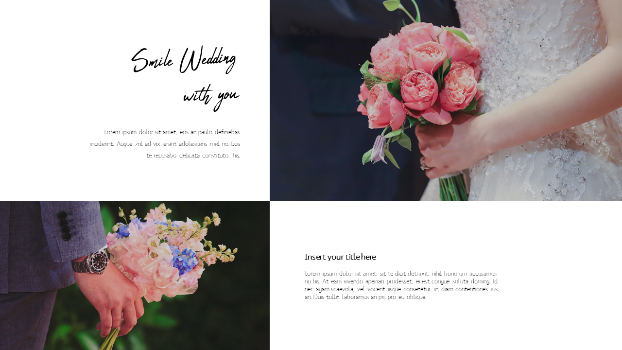 Lovely Wedding Powerpoint Templates For Presentation