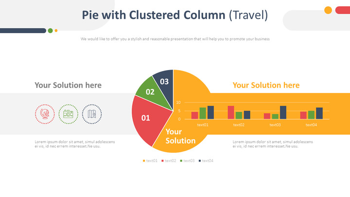 Pie with Clustered Column (Travel)_01