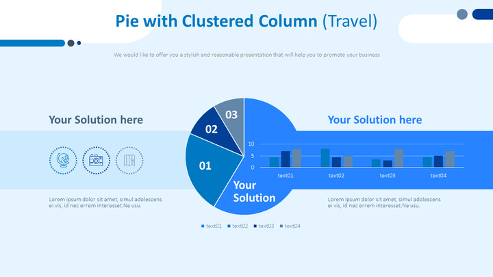 Pie with Clustered Column (Travel)_02