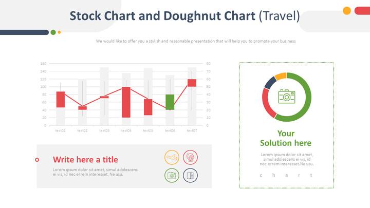 Stock Chart and Doughnut Chart (Travel)_01