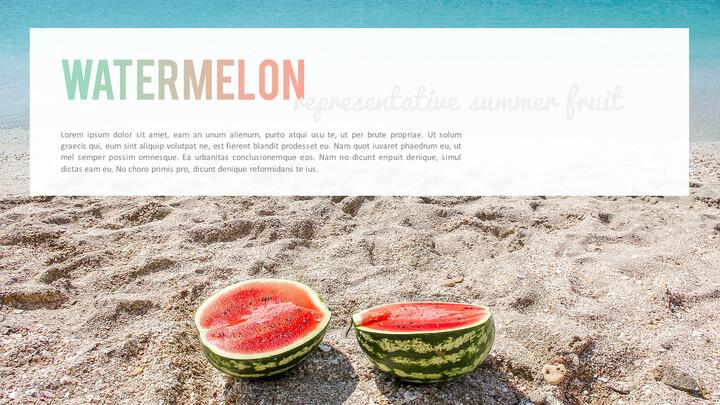 여름 파인애플 & 수박 PowerPoint 템플릿 디자인_02