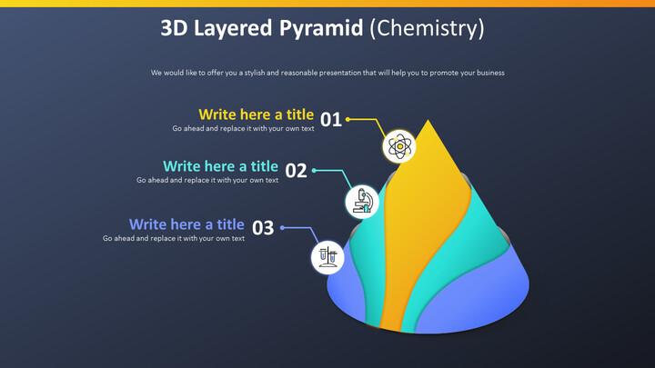 3D 계층화 된 피라미드 다이어그램 (화학)_02