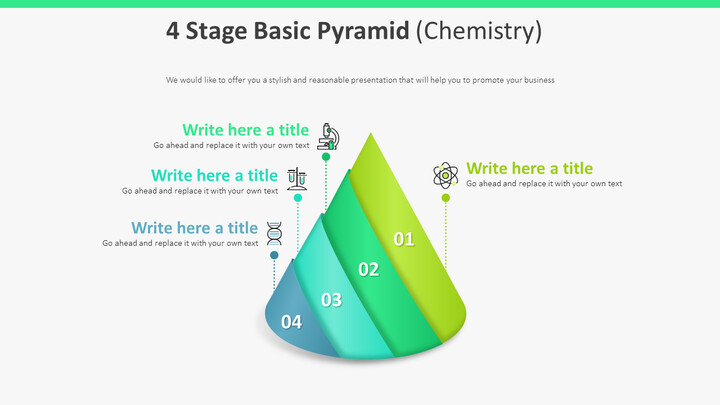 4 단계 기본 피라미드 다이어그램 (화학)_01