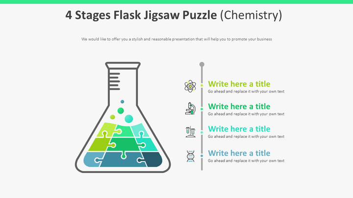 4 Stages Flask Jigsaw Puzzle 다이어그램 (화학)_01