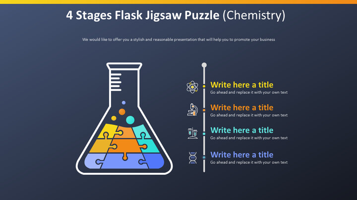 4 Stages Flask Jigsaw Puzzle 다이어그램 (화학)_02