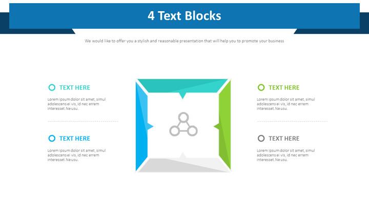 4 개의 텍스트 블록 다이어그램_01