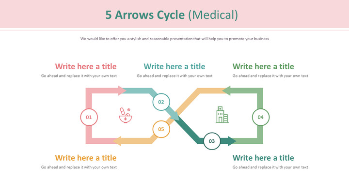 5 Arrows Cycle Diagram (Medical)_01