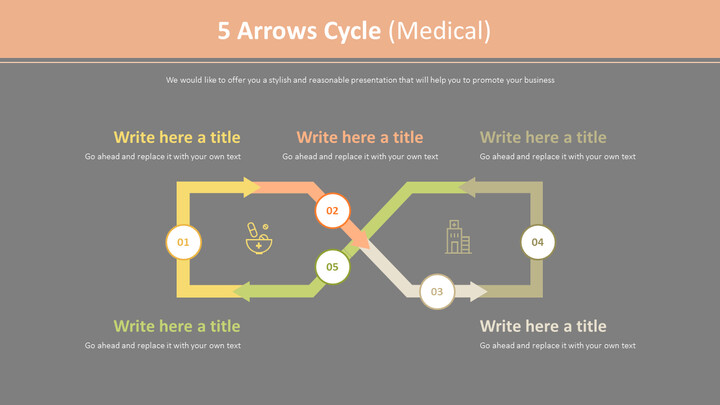 5 Arrows Cycle Diagram (Medical)_02