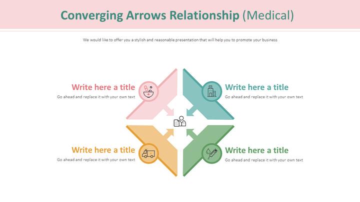Converging Arrows Relationship Diagram (Medical)_01