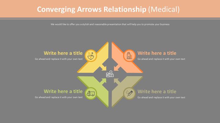 Converging Arrows Relationship Diagram (Medical)_02