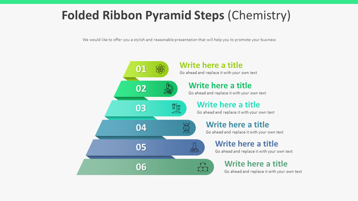 Folded Ribbon Pyramid Steps Diagram (Chemistry)_01