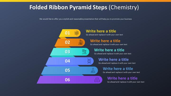 Folded Ribbon Pyramid Steps Diagram (Chemistry)_02