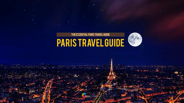 파리 여행 가이드 테마 PT 템플릿_01