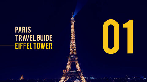 파리 여행 가이드 테마 PT 템플릿_02