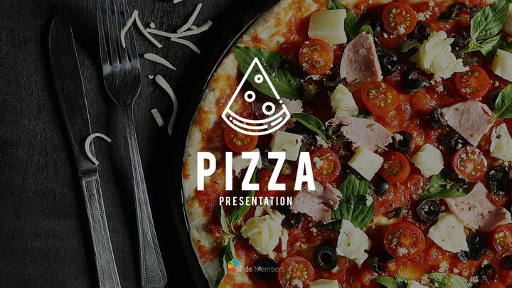 피자 프레젠테이션용 PowerPoint 템플릿_01