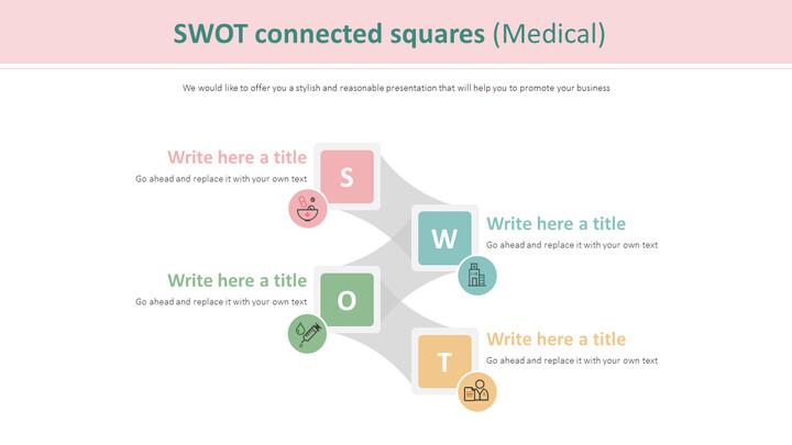 SWOT 연결 사각형 다이어그램 (의료)_01