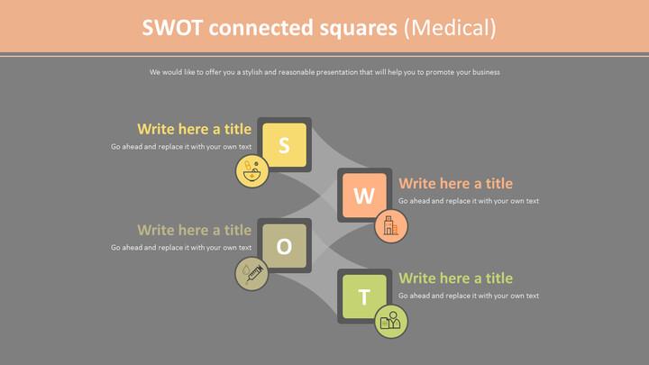SWOT 연결 사각형 다이어그램 (의료)_02