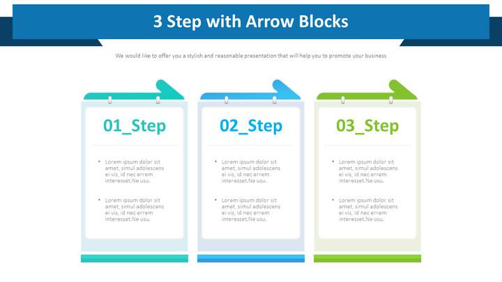 화살표 블록이있는 3 단계 다이어그램_01