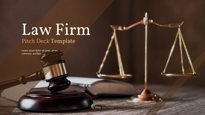 법률 사무소 피치덱 PowerPoint 프레젠테이션 템플릿_01