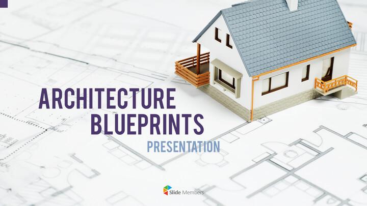 건축 설계도면 파워포인트 템플릿_01