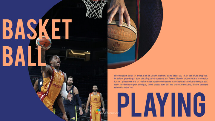 Basketball Playing Best PPT Templates_01