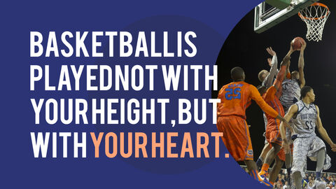 Basketball Playing Best PPT Templates_03