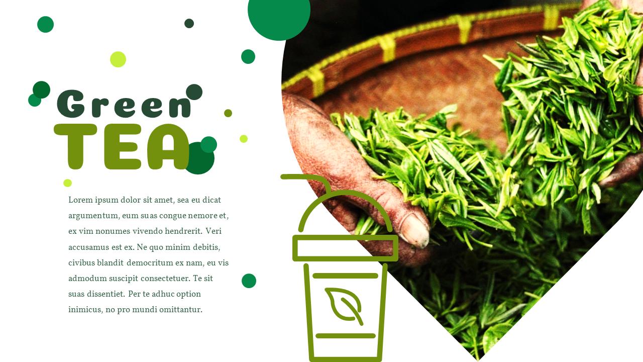 Green Tea Presentation Powerpoint Templates Design