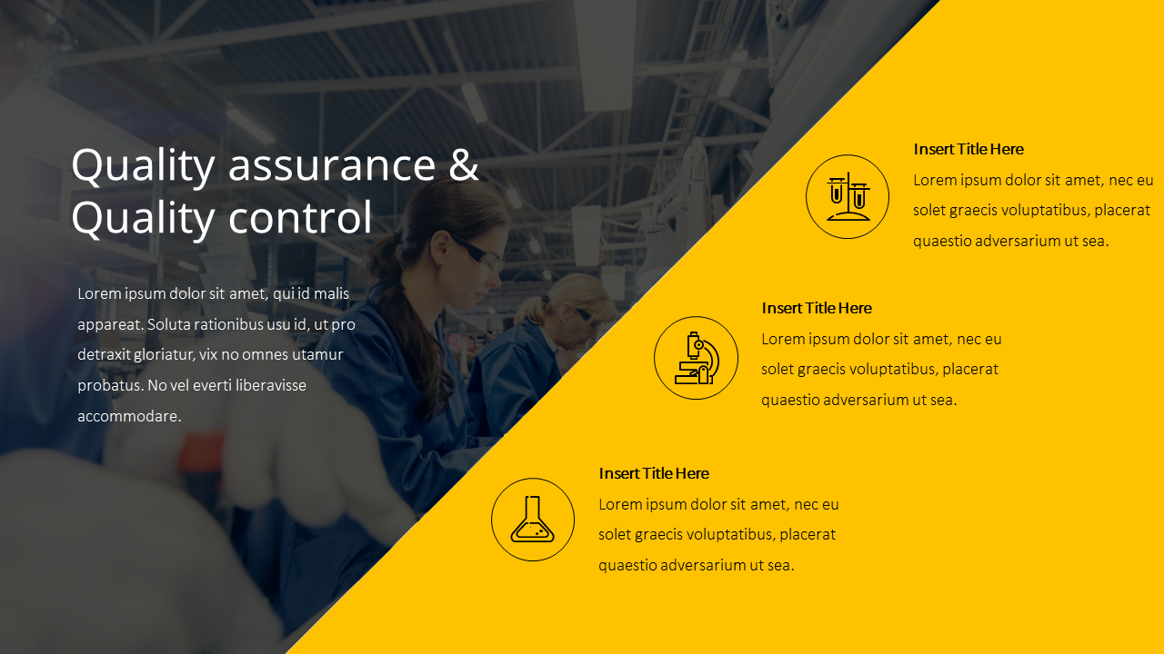 Quality Assurance Quality Control Theme Ppt Templates