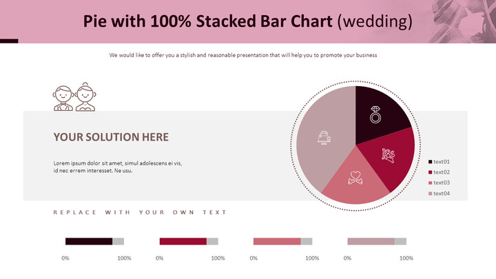 Pie with 100% Stacked Bar Chart (Wedding)_01